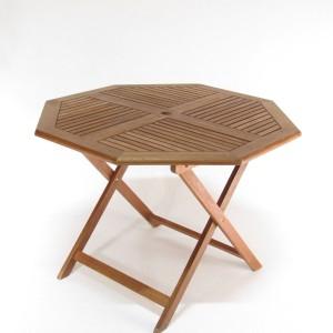 Teak-pöytä, halkaisija 90cm