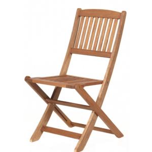 Teak tuoli lyhyellä selkänojallaV